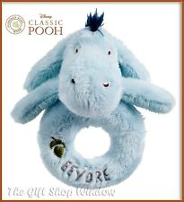 MY FIRST EEYORE PLUSH RING RATTLE OFFICIAL DISNEY CLASSIC WINNIE THE POOH 0+ NEW