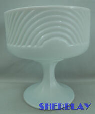 E.O. Brody Co Vintage Depression Milk Glass Pedestal Bowl Compote Candy Dish 138