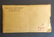 1956 Silver Proof Set - Us Mint Collectible Coins - Cut Envelope