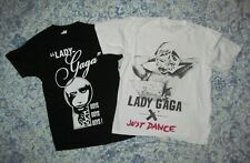 Lady GaGa Adult XS Lot 2 pc T shirts Boys Boys Boys baby cut & Just Dance baggy