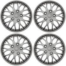 """4 Pc Set of 16"""" MATTE GUNMETAL Hub Caps Cover for OEM Steel Wheel Covers Cap"""