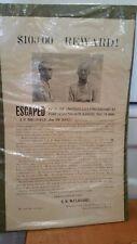 "1904 ""Wanted Poster"" Fort Leavenworth Kansas"