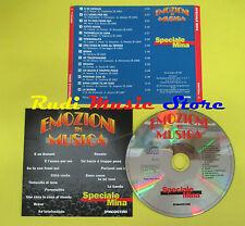CD EMOZIONI MUSICA SPECIALE MINA compilation 97 (C5*) no mc lp dvd vhs