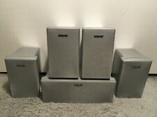 Sony SS-CNP75 and Four SS-MSP75 Home Theatre Surround Sound Speakers (No wires)