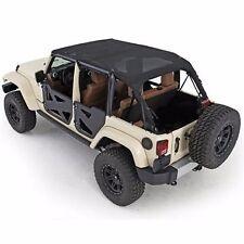 Smittybilt Extended Mesh Top & Header Channel Set 2010-2016 4dr Jeep Wrangler JK
