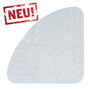 Transparente Dreieck Duscheinlage Duschmatte für Viertelkreis Duschwannen Ø54cm