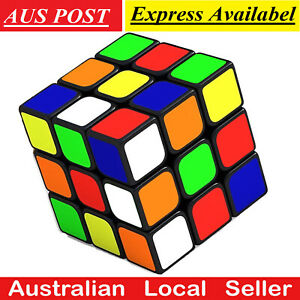 Magic Cube 3x3x3 Super Smooth Fast Speed Puzzle Gift Kids Educational Toy AU