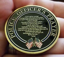 Policeman's prayer challenge coin law enforcement St Michael Catholic Christian