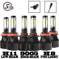 Combo H11+ 9005 Hi Lo Beam+ H8 Fog LED Headlight Bulbs Kit 6000K for CHEVROLET