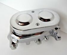 BRAKE MASTER CYLINDER 1 1/8 BORE CHROMED ALLOY SMOOTH DOUBLE BARREL CAP 4 W DISC