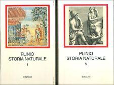 PLINIO IL VECCHIO, Storia naturale. Volume I-V. Einaudi Millenni, 1982. 5 volum