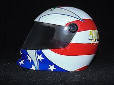 NASCAR White/Red/Blue Mini Helmet with American Flag