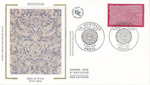 Enveloppe maximum 1er jour FDC Soie 1990 - Métier d'Art La Dentelle