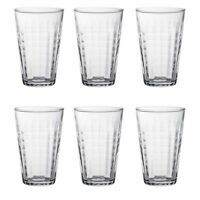 Duralex Prisme Water Juice Hiball Glasses - 330ml - x 6 - Large Tumbler