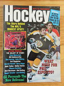 Action Sports Hockey PHIL ESPOSITO 1971-72 Yearbook JEAN RATELLE BRUINS Magazine