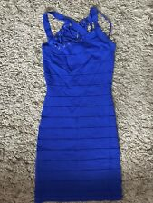 Lipsy London Ladies Womens Bandage Style Dress (Blue) UK Size 8 - VGC