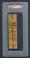 VINTAGE 1954 A'S @ NEW YORK YANKEES FULL TICKET - MICKEY MANTLE PSA 6 - 8/10