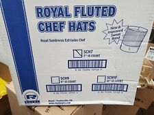 """7"""" Royal Pleated Chef Hats 15 count"""