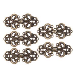 5x Women Ladies Retro Swirl Flower Cape Cloak Clasp Fasteners Shawl Cardigan Pin