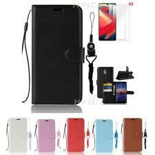 5 in 1 Magnetic Leather wallet Flip Phone Case with 2 Tempered film & Lanyards 6