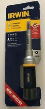 New In Package 8-in-1 Ratcheting Screwdriver - (IRWIN) Asst. Bits.