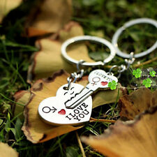 "Arrow & ""I Love You"" Heart & Key Couple Key Chain Ring Keyring Keyfob Lover Gift"