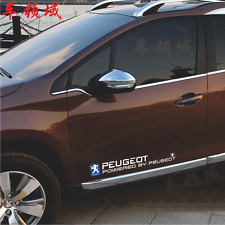 1Pair 80CM Decal Car Stickers for PEUGEOT Waist Line Door Sticker Exterior Acces
