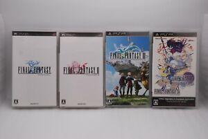 PSP FINAL FANTASY 1 , 2 , 3 , 4 Complete Collection 4Games Set Japan import FF