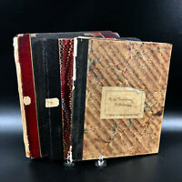 3 1908 Antique Harvard University Student Notebooks ~ Notes Paleontology Medical