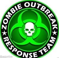 ZOMBIE OUTBREAK RESPONSE TEAM SKULL BUMPER CAR BOX STICKER DECAL MADE IN USA 3""