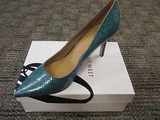 NWB NINE WEST Women Teal Aqua Green Snake Pointed Classic Shoes sz 7.5 M