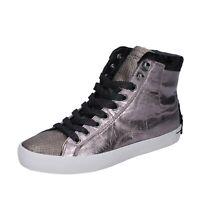scarpe donna CRIME LONDON sneakers rosa pelle BJ528