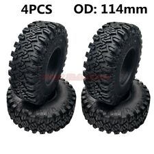 "Rock Cralwer 1.9"" Tires 114mm Tyre (4) For RC 1:10 CC01 SCX10 D90 TF2 TRX-4 JEEP"