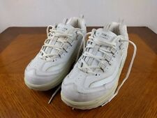 Sketcher Fitness Shape Ups White Shoes Women's Size 8 Sneakers Walking Athletic