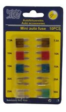 20x Minisicherungen 2,30€/Pack 2 x 10 Stück 7.5A - 30A Sicherungen Auto LKW