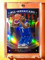Zion Williamson SILVER REFRACTOR ROOKIE PANINI PRIZM DRAFT PICKS ALL AMERICANS