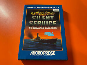 """SILENT SERVICE BOXED VERY RARE COMPLETE - ATARI ST 3.5"""" - MICROPROSE - @LOOK@"""