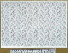 1:12th dolls house self adhesive vinyl - A4 sheet - 'Blossom pattern' wallpaper