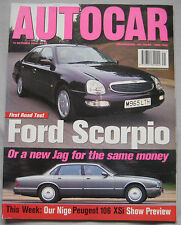 AUTOCAR 12/10/1994 featuring Ford Scorpio, Jaguar XJ6, Vauxhall, Peugeot
