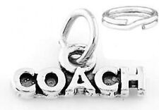 "STERLING SILVER ""WORD COACH"" CHARM WITH SPLIT RING"