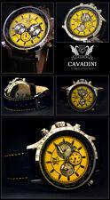de Luxe Chronographe -cavadini Montre tachymètre pivotable Bague en jaune-jaune