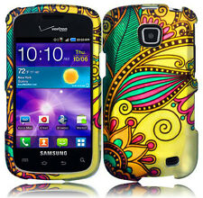 For Samsung Galaxy Proclaim SCH-S720C Rubberized HARD Case Phone Antique Flower