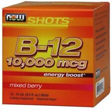 NOW B12 10,000mcg Energy Boost Mixed Berry 12 Shots 0.5 Fl Oz