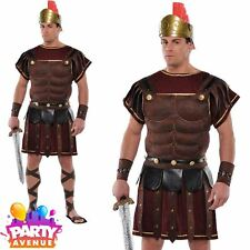 Adult Roman Soldier Warrior Costume Mens Historical Fancy Dress Standard