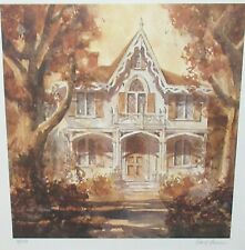 DAVID IRVINE HAND SIGNED IN PENCIL LIMITED EDITION VICTORIAN HOUSE LITHOGRAPH