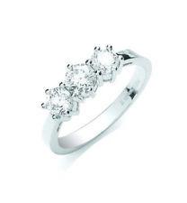 Anelli con diamanti trilogy in platino