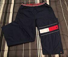 VTG 90s Tommy Hilfiger Polo Sport Big Flag Logo Windbreaker Hip Hop Pants - XXL
