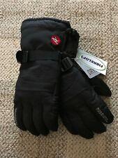 Mens Rossignol Ski Gloves Black/Red Size Large Warm Soft Water Resistant