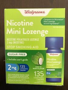 Walgreens Nicotine Mini Lozenge 2mg 135 Count Mint Flavor  Compared to Nicorette