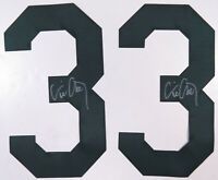 2 Eric Chavez Oakland Athletics Autographed Signed Baseball MLB Jersey Number #3